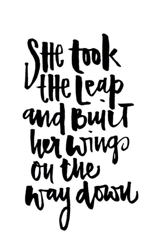 She Took a Leap and Built Her Wings on the Way Down in blog