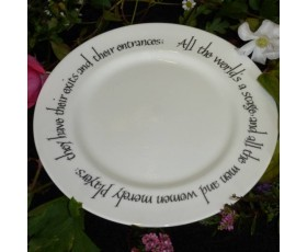 """All The World's A Stage"" Plate"