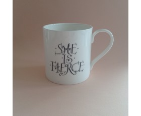 """Although She be But Little, She is Fierce"" Mug"